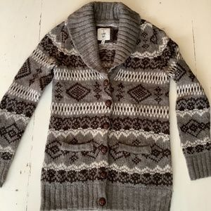 H81 fair isle cardigan sweater Small
